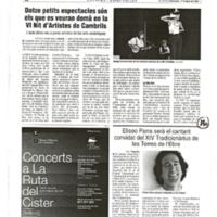 Eliseo Parra serà el cantant convidat del XIV Tradicionàrius de les Terres de l'Ebre