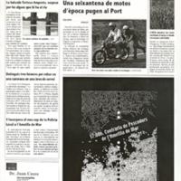 Una seixantena de motos d'època pugen al Port