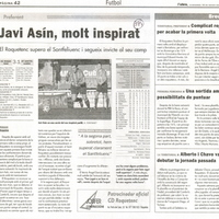 Javi Asín, molt inspirat