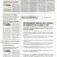 La Diputació acaba les obres de millora de la carretera de la Sénia a Roquetes