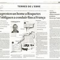 Segresten un home a Roquetes i l'obliguen a conduir fins a França
