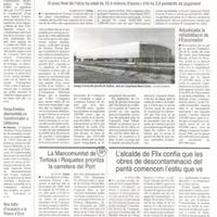 La Mancomunitat de Tortosa i Roquetes prioritza la carretera del Port