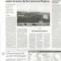 La Diputació repara el vial que uneix Tortosa i Roquetes