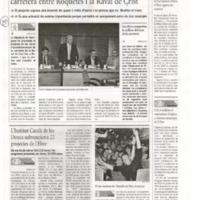 La Diputació millora la comunicació de la carretera entre Roquetes i la Raval de Crist