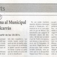El CD Roquetenc torna al Municipal per a rebre el líder, Alcarràs
