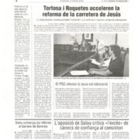 Tortosa i Roquetes acceleren la reforma de la carretera de Jesús