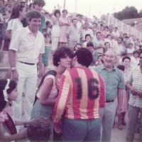 Gran partit de futbol entre el F. C. Roquetenc i F. C. Bacelona de veterans