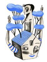 Il·lustració 'Ara toca recollir-se' d'Ignasi Blanch, 2020