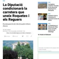 La Diputació condicionarà la carretera que uneix Roquetes i els Reguers.pdf