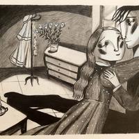 Il·lustració 'Crim i càstig' de Dostoievski, d'Ignasi Blanch, 2020